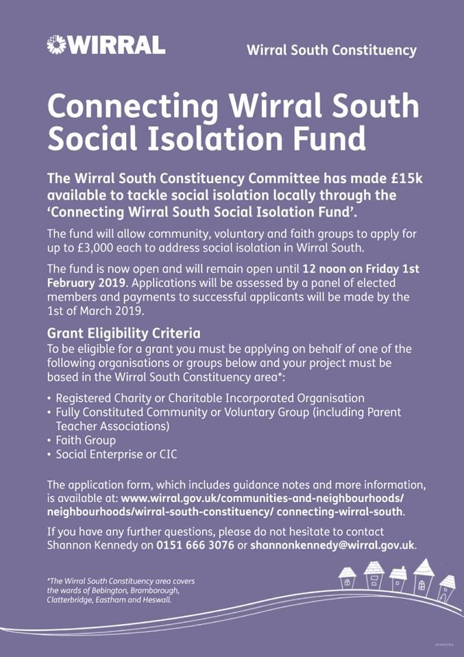 Connecting South Wirral Social Isolation Fund